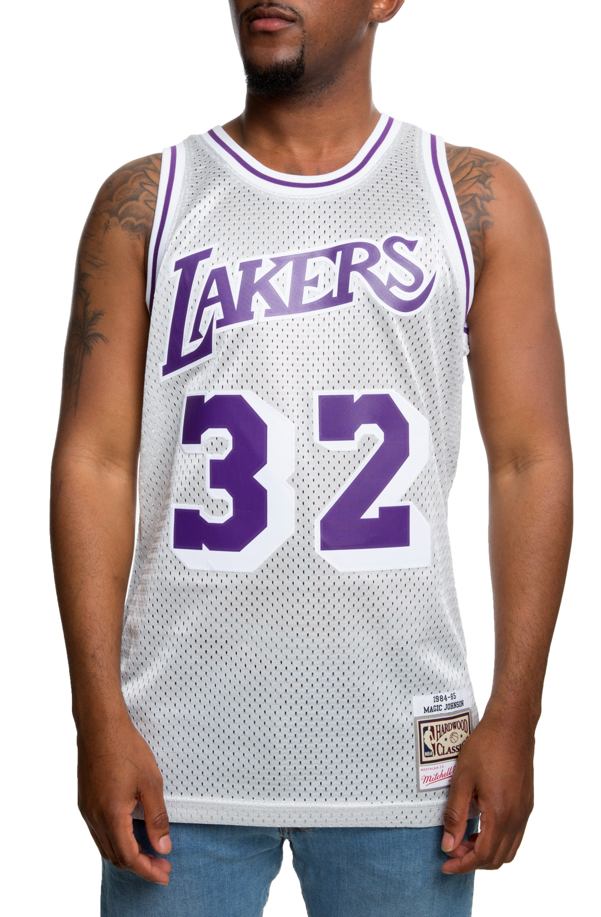 MAGIC JOHNSON LAKERS PLATINUM JERSEY