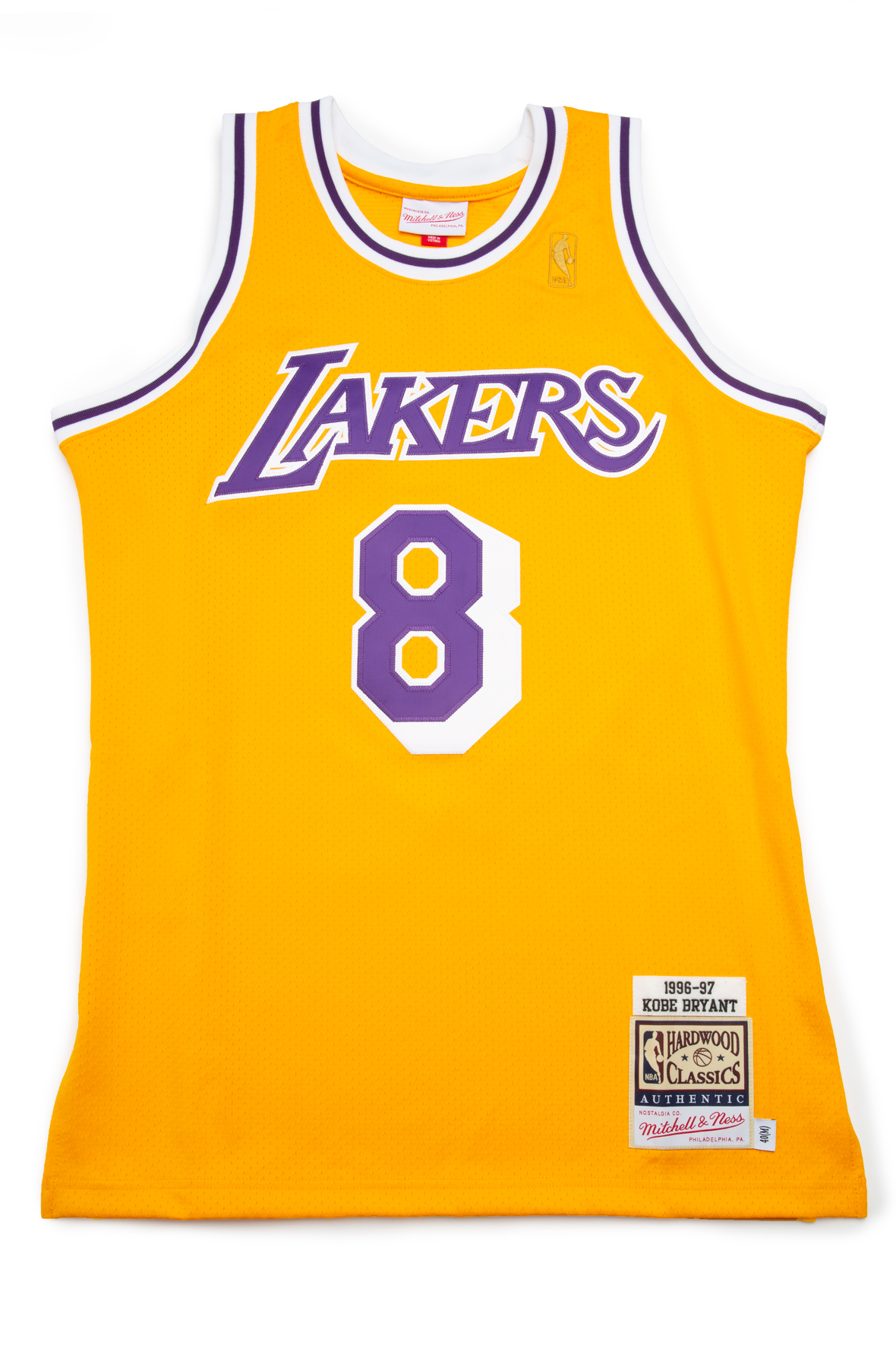 LOS ANGELES LAKERS KOBE BRYANT 1996-97 AUTHENTIC HOME JERSEY