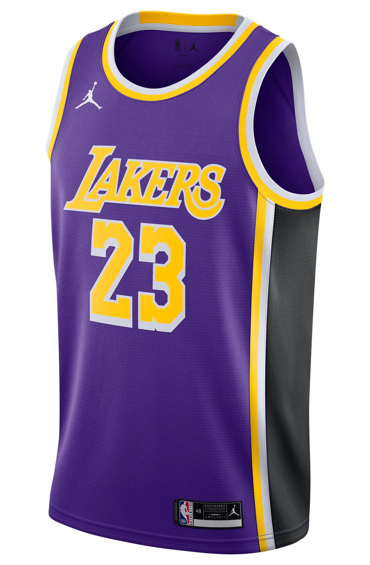 LeBron James Los Angeles Lakers Statement Edition 2020 NBA Swingman Jersey Field Purple