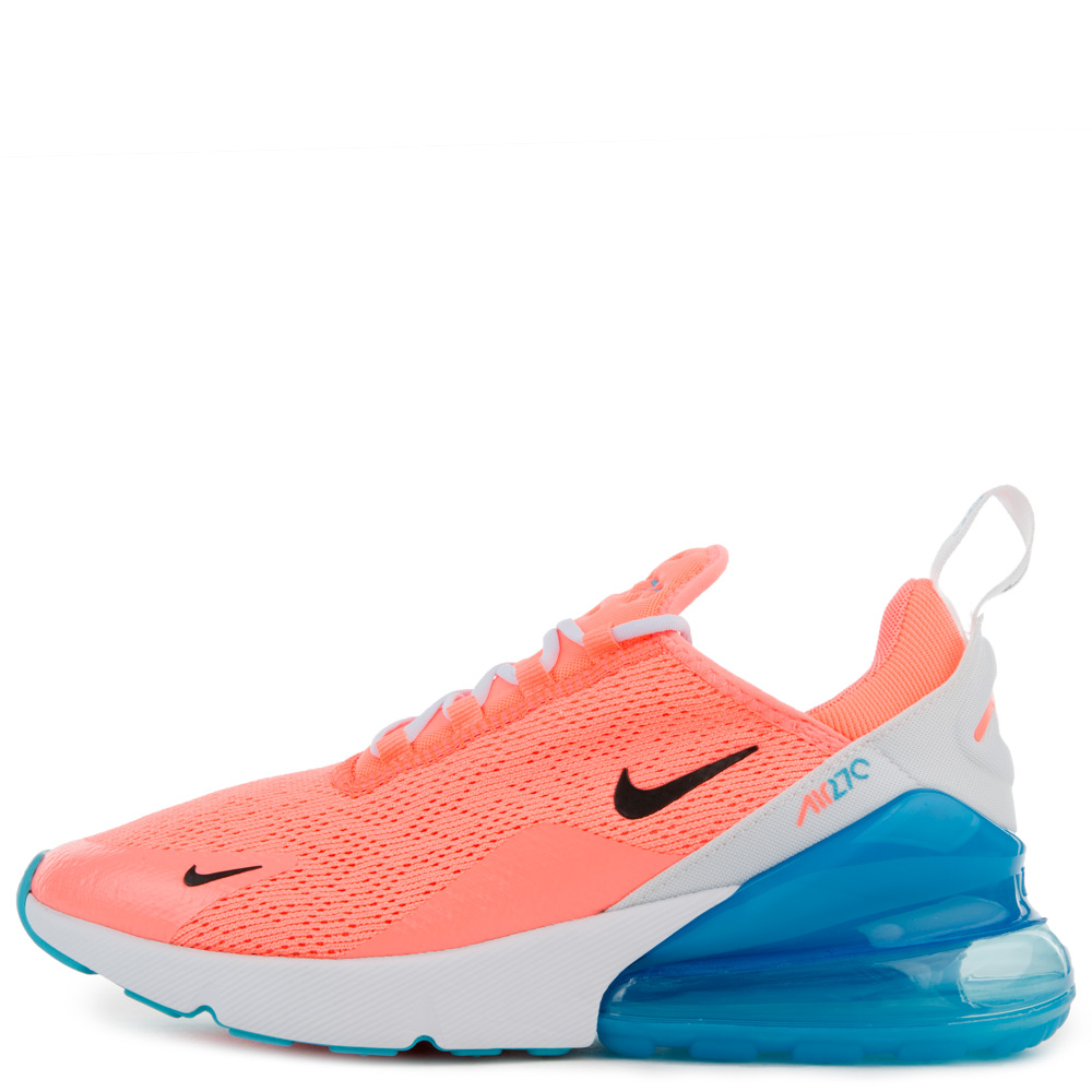 Women S Air Max 270 Lava Glow Black White Blue Fury