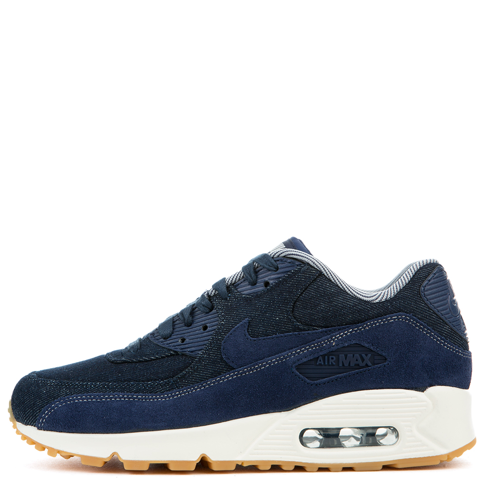 NIKE WOMEN'S AIR MAX 90 SE BINARY BLUEBINARY BLUE MUSLIN SAIL