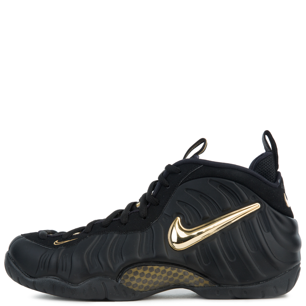 kids black and gold foamposites