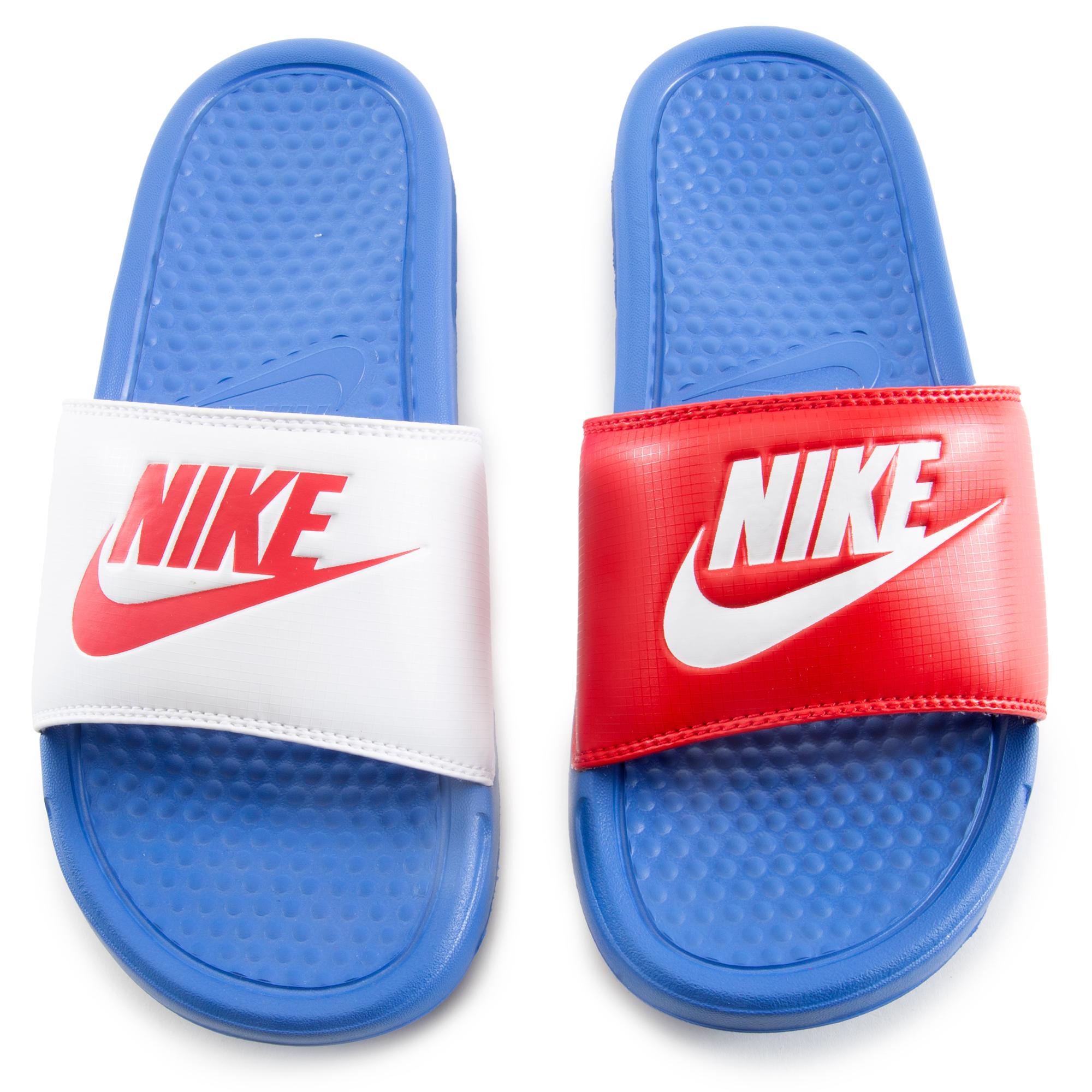 Proponer No lo hagas masculino  Women's Benassi JDI Slides Blue/White/Red