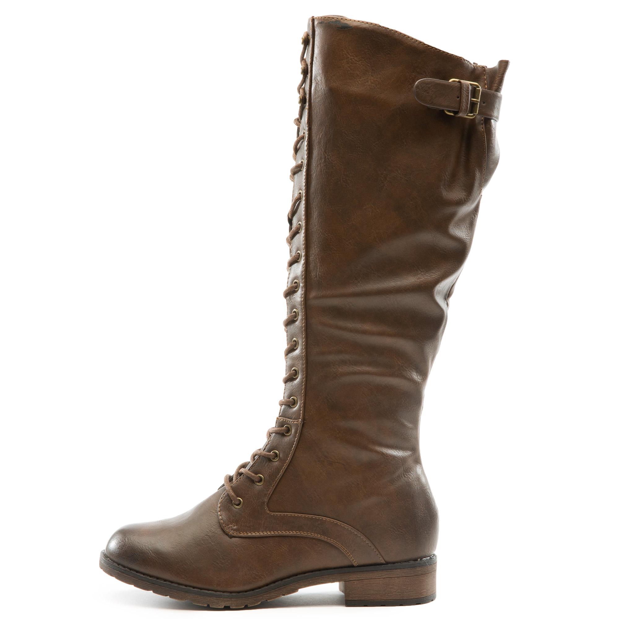 Ride-3 Combat Boots Brown