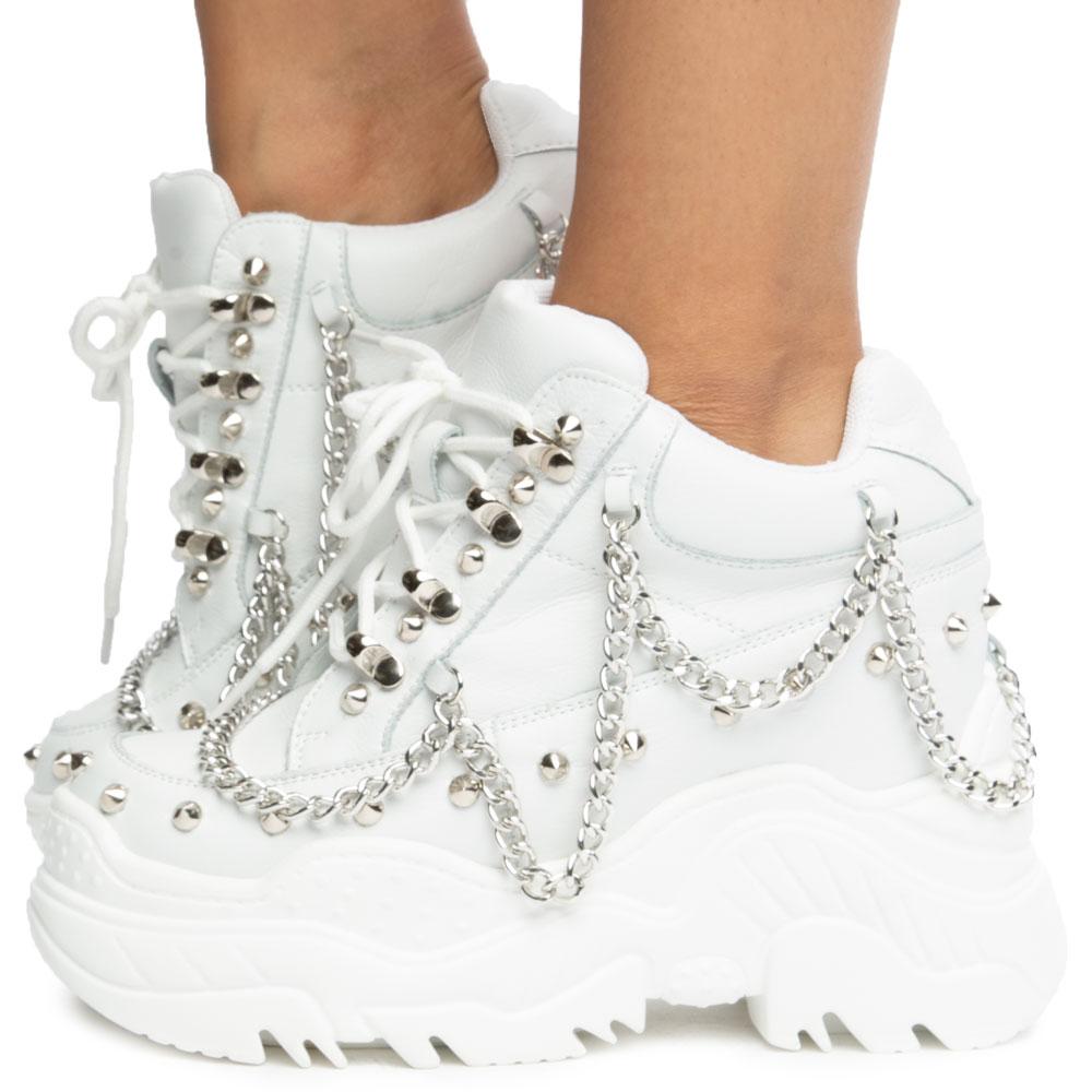 white platform sneakers near me
