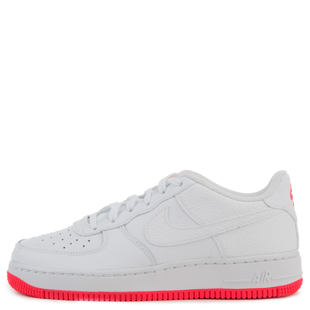 Gs Air Force 1 White White Racer Pink