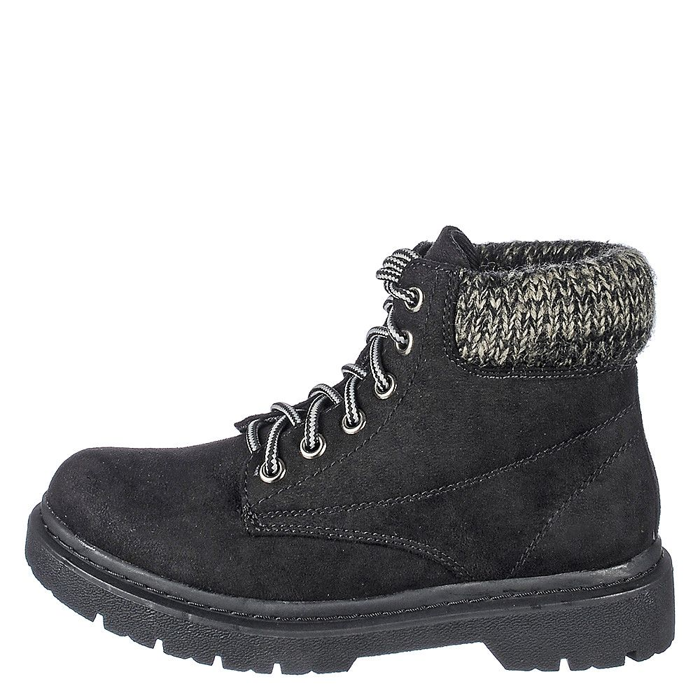 Shiekh Mills-S Women&39s Black Low-Heel Ankle Boots | Shiekh Shoes