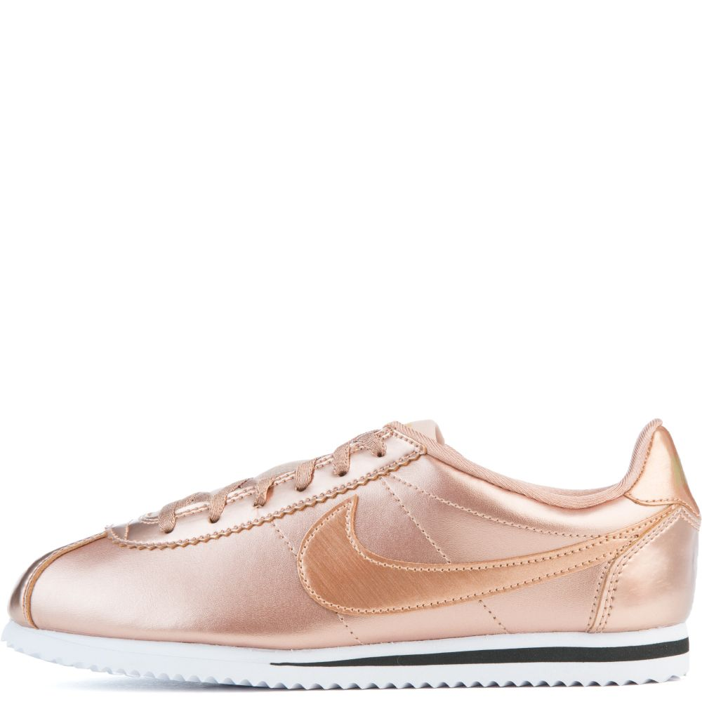 nike cortez se gs rose gold white black. Black Bedroom Furniture Sets. Home Design Ideas