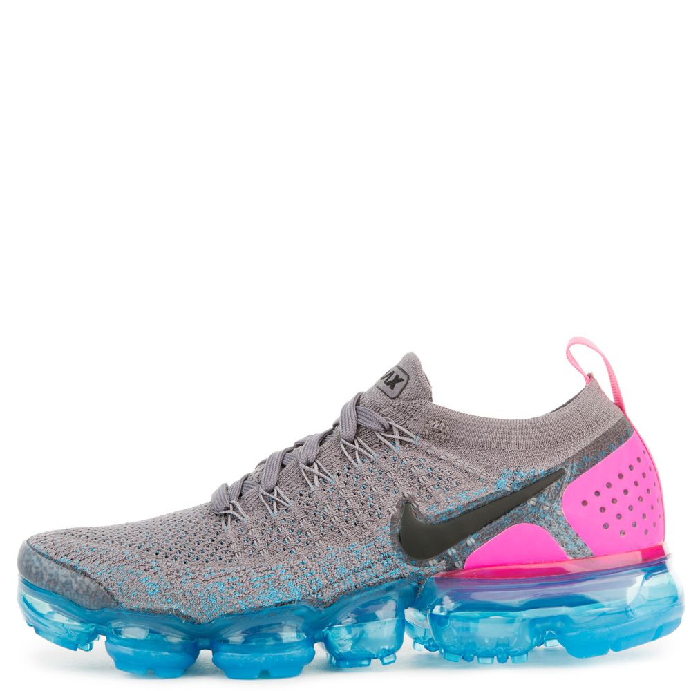 8a8d22919e9af women s nike air vapormax flyknit 2 gunsmoke black blue orbit pink blast