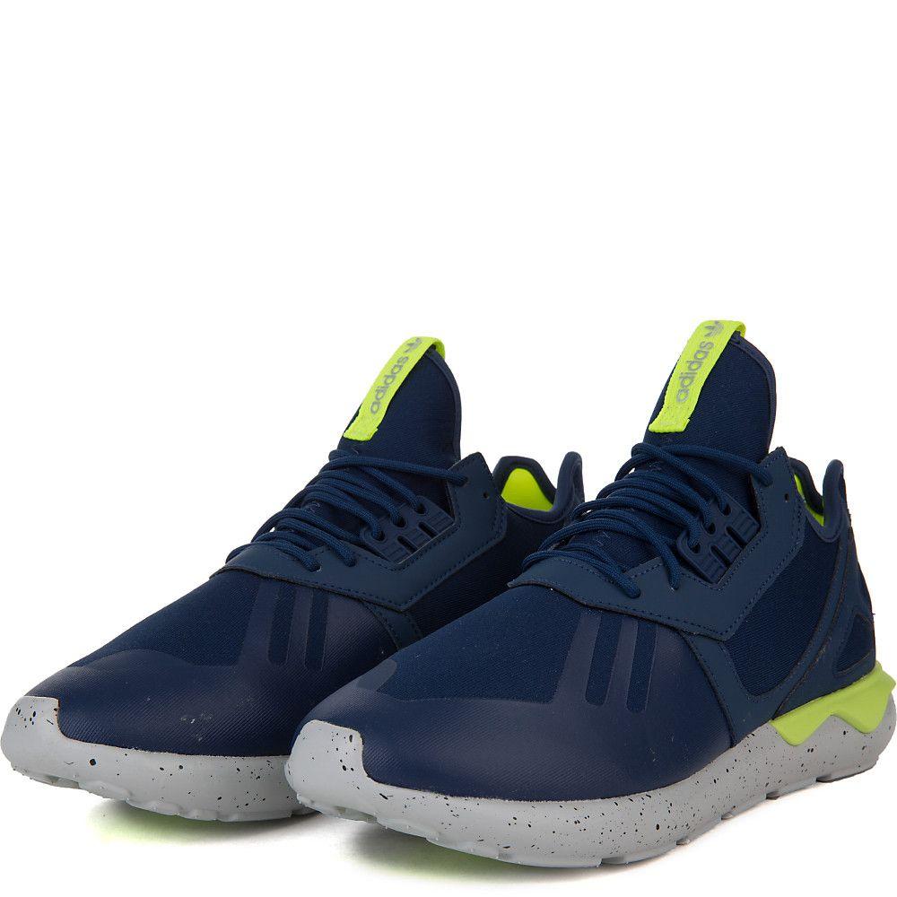 9adc70687d63 Men s Tubular Runner Athletic Running Sneaker Navy Blue Neon ...