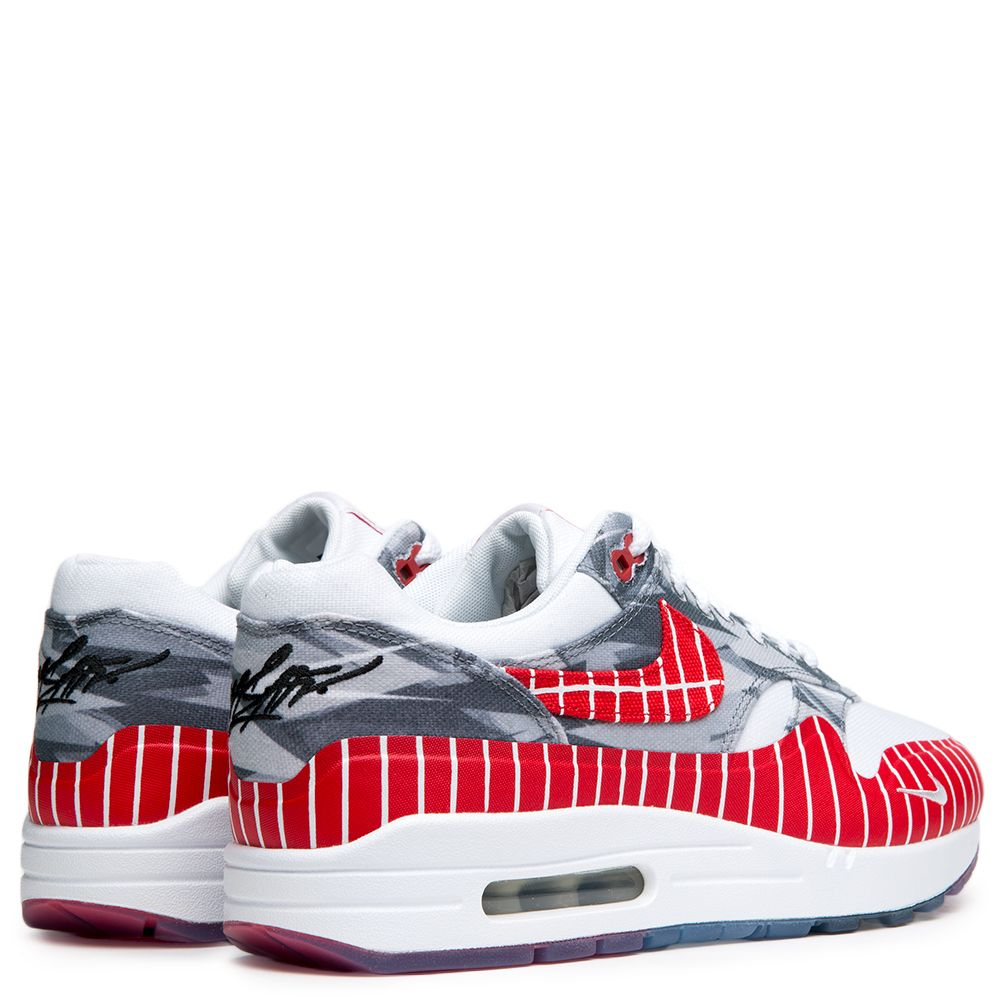 timeless design aa9aa 71915 MEN S NIKE AIR MAX 1 LHM WHITE UNIVERSITY RED-NEUTRAL GREY