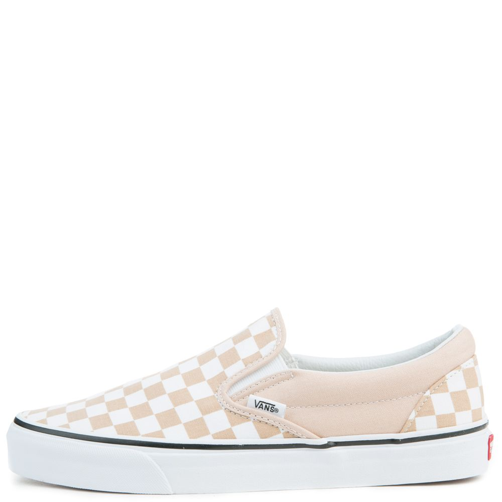 unisex vans classic slip-on checkerboard frappe true white b2afc6ff3