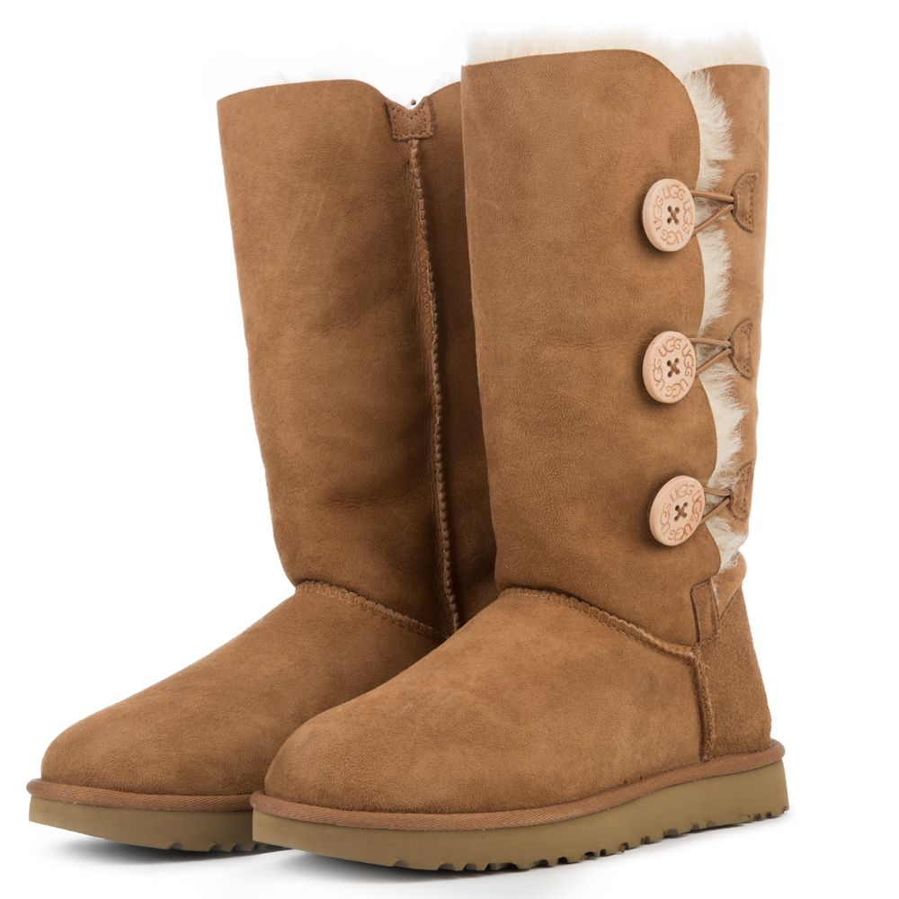 5d06e80459e Women's Bailey Button Triplet II Chestnut Boots CHESTNUT