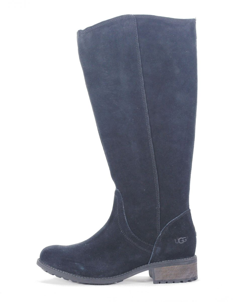 e7238f88c09 UGG Australia for Women: Seldon Black Suede Tall Boot BLACK