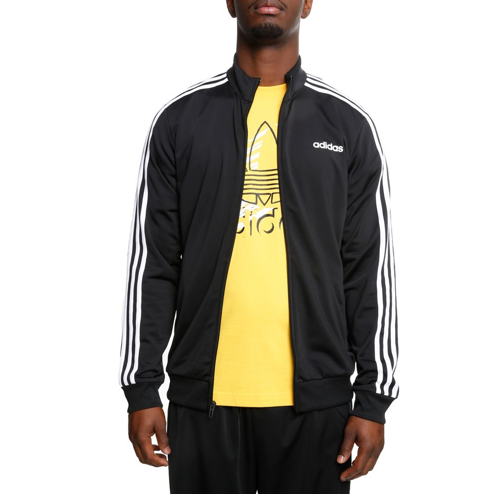 7bccddb8a ESSENTIALS 3-STRIPES TRICOT TRACK JACKET BLACK/WHITE