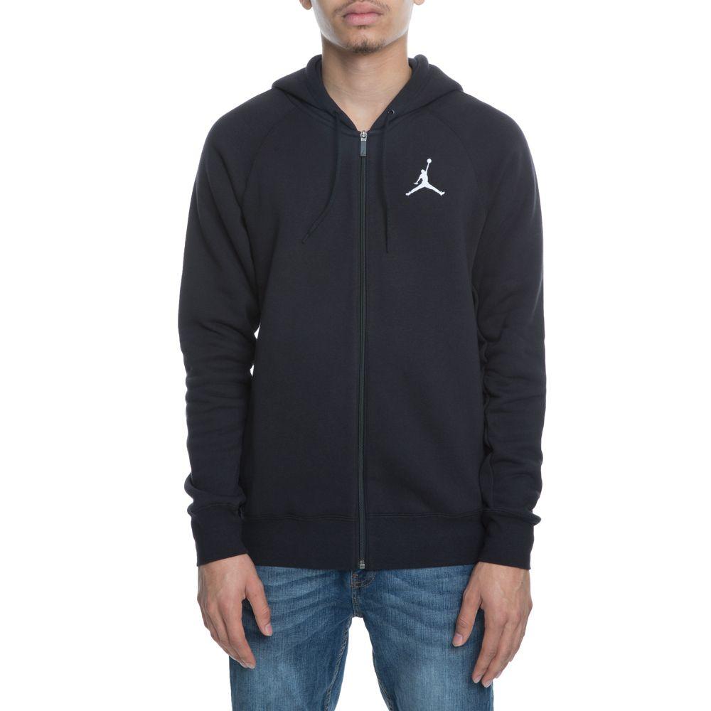 d3b4d2db4f86 Jordan Flight Fleece Full Zip BLACK WHITE