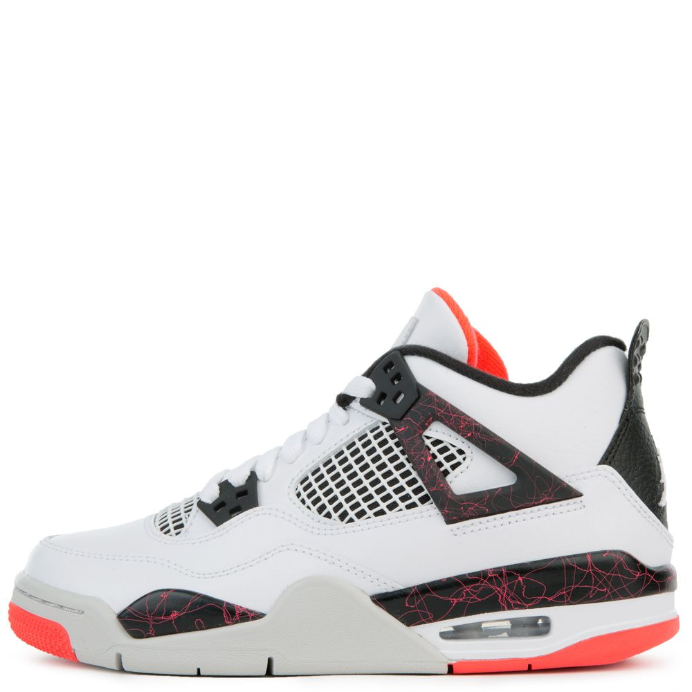 015cd1ebb28591 JORDAN 4 RETRO WHITE BLACK-BRIGHT CRIMSON-PALE CITRON ...