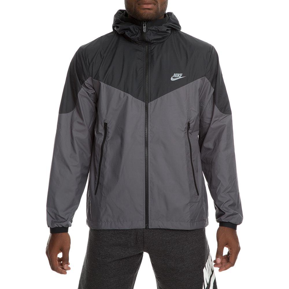 nike sportswear windrunner jacket black dark grey black dark grey 80bb22ad431a