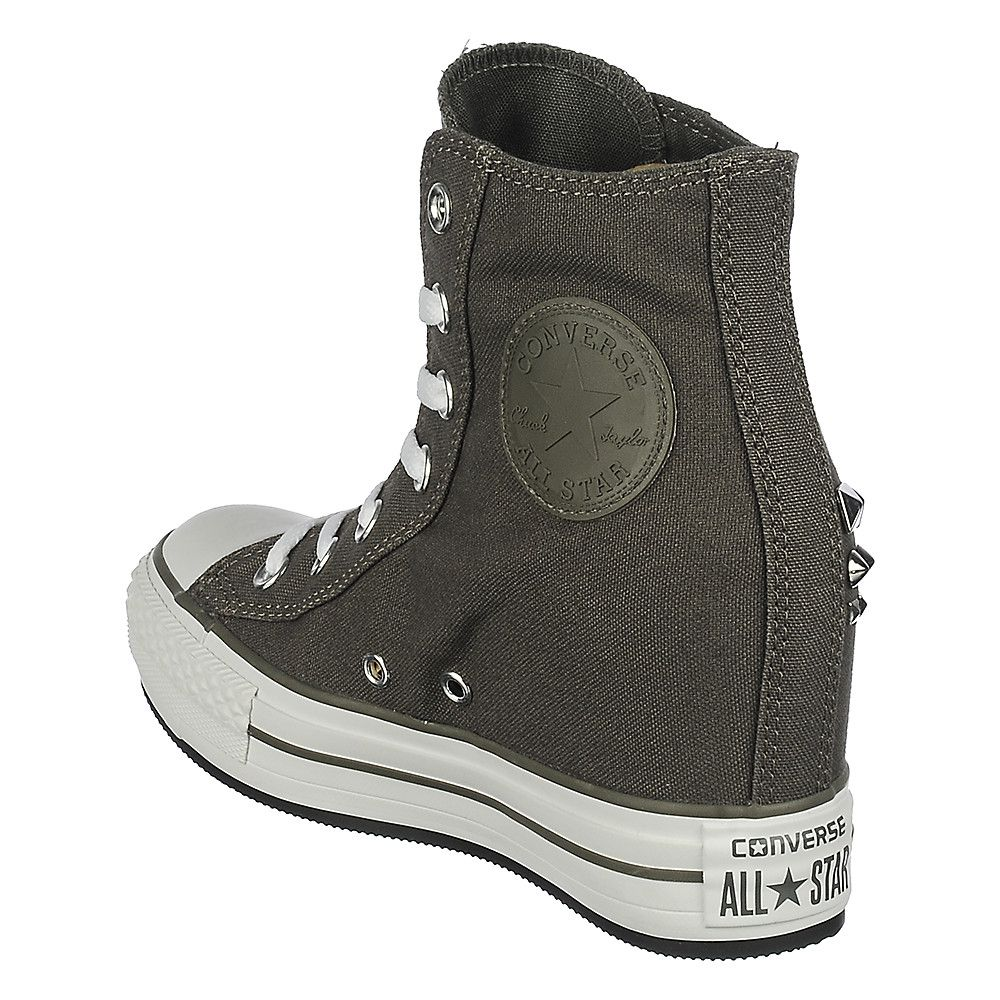 06ec086693e9 Converse Chuck Taylor Platform grey casual wedge sneaker