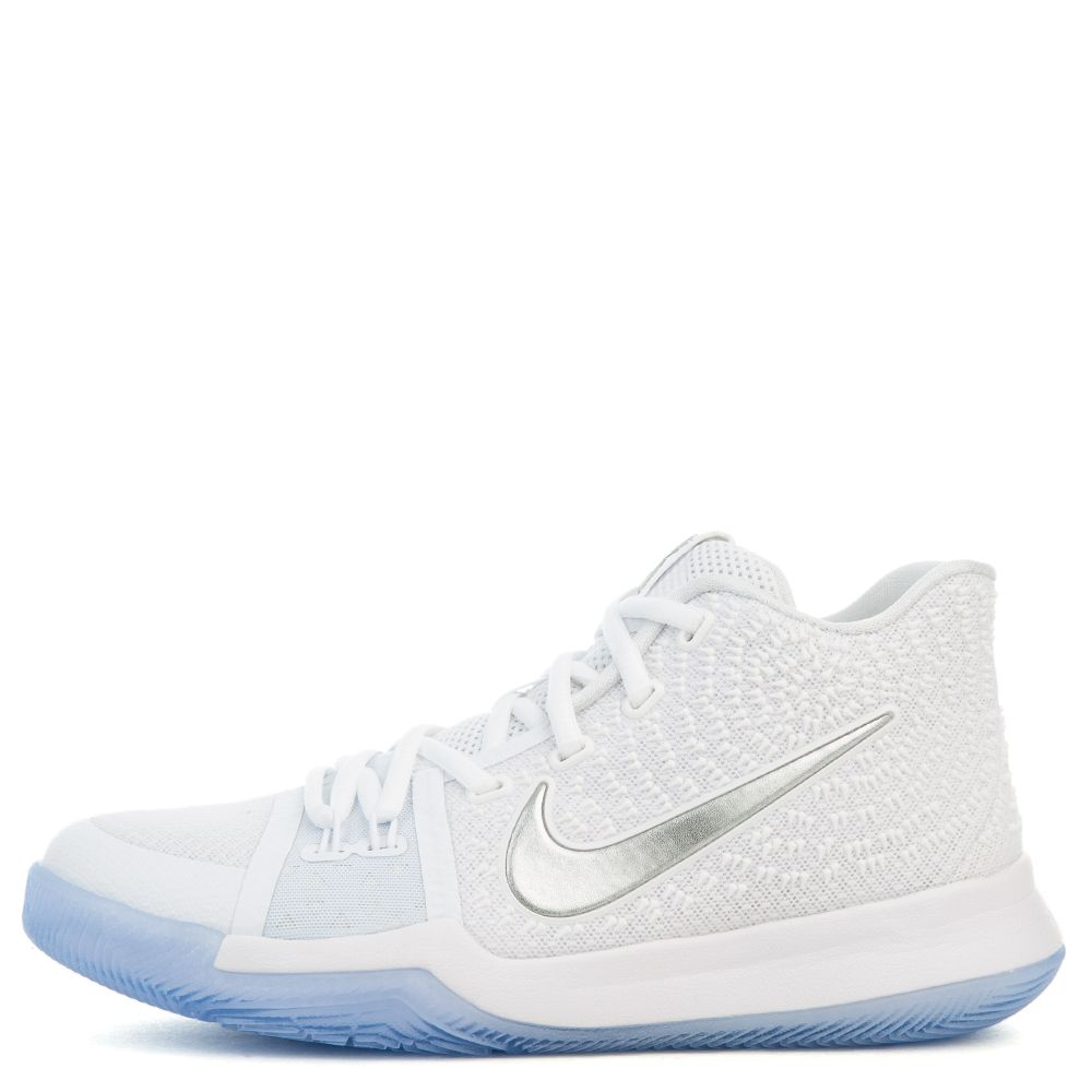 f80ffee2c7a9 BOYS  KYRIE 3 (GS) BASKETBALL SHOE WHITE CHROME