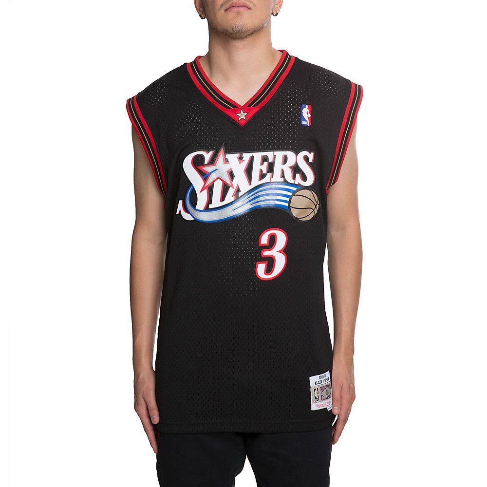 cbf526ad765 Men s 76ers Allen Iverson Jersey BLACK