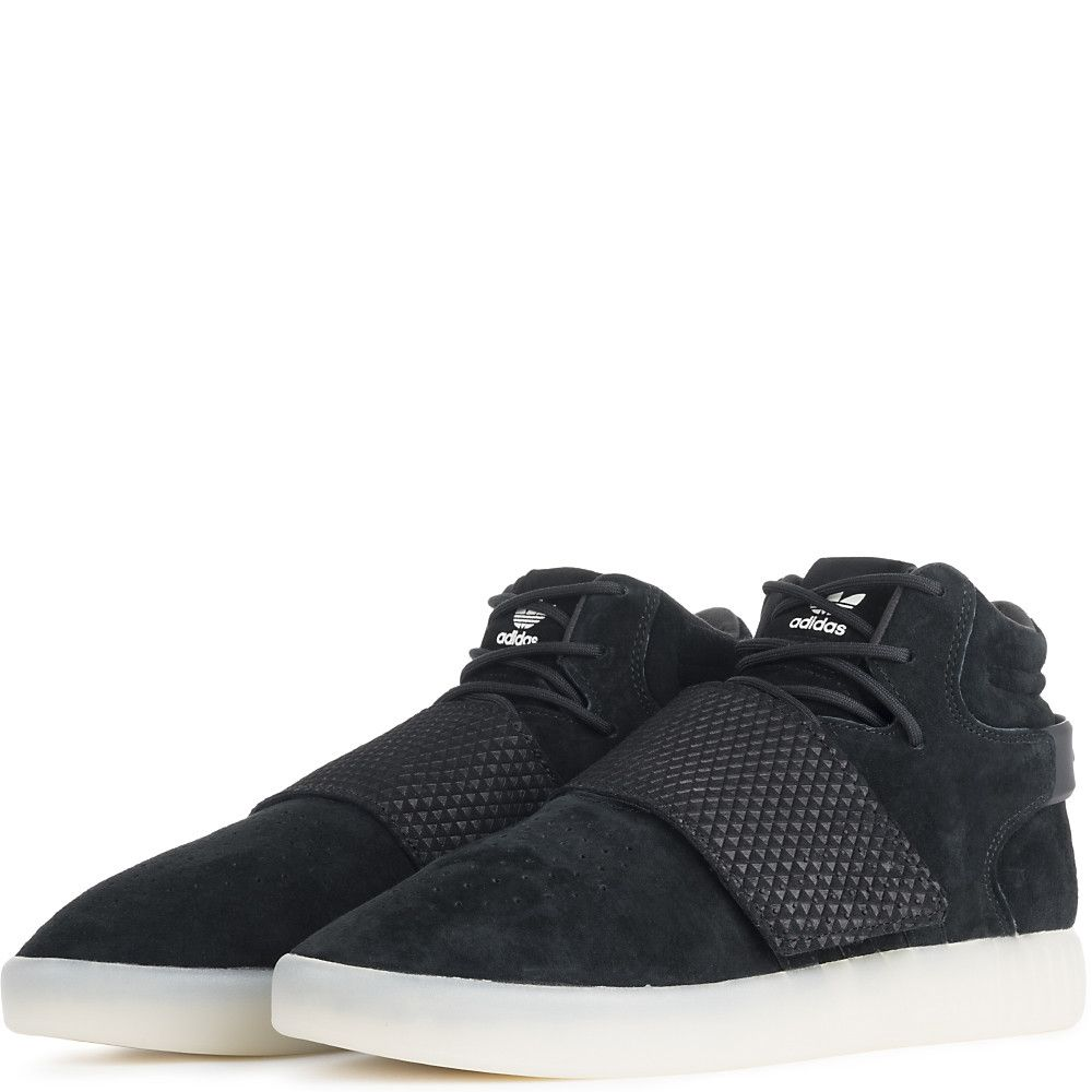 87f14488b820 Men s Tubular Invader Strap Casual Lace-Up Shoe Black