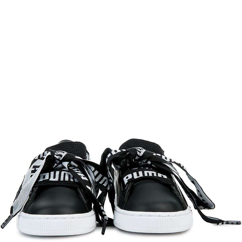 02627c29de70 Women s Basket Heart De Sneakers PUMA BLACK PUMA WHITE