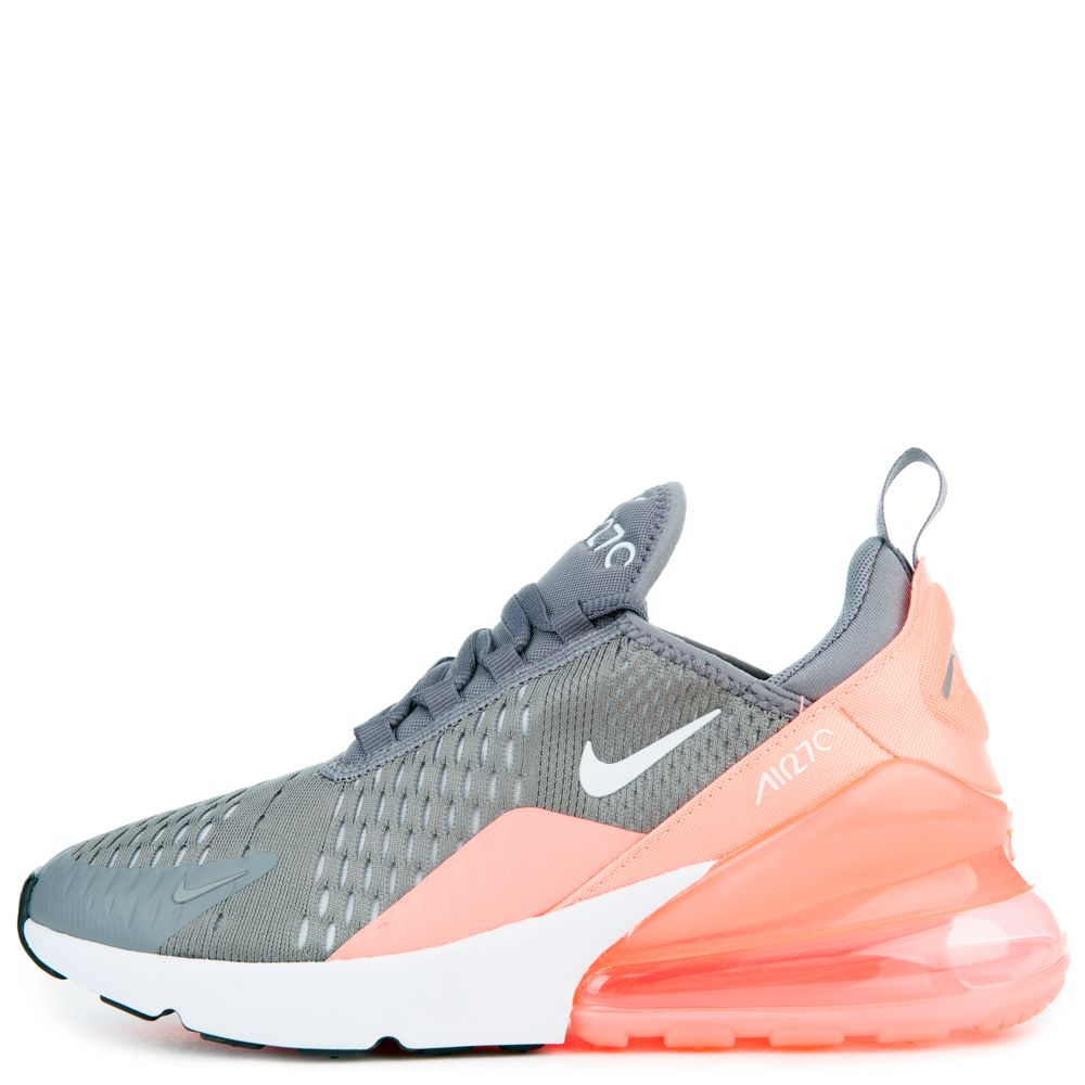 NIKE AIR MAX 270 (GS) GUNSMOKEWHITE-LT ATOMIC PINK