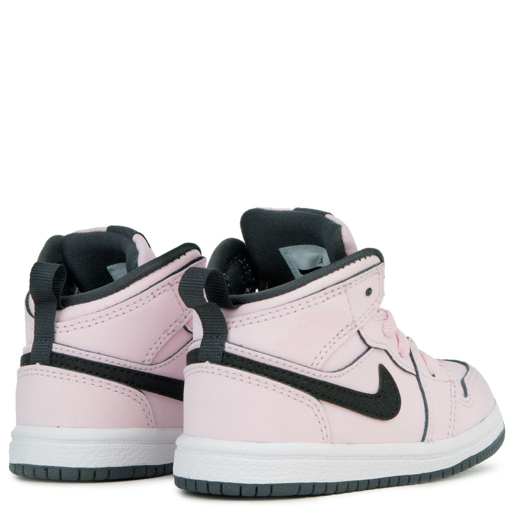 c4645ec38f8 (TD) AIR JORDAN 1 MID PINK FOAM  BLACK-WHITE-ANTHRACITE