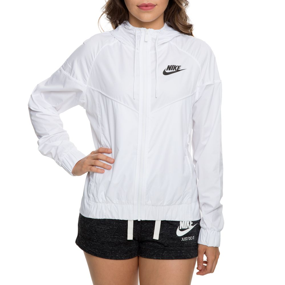 WOMEN S NIKE WINDRUNNER JACKET WHITE BLACK f0ccee150