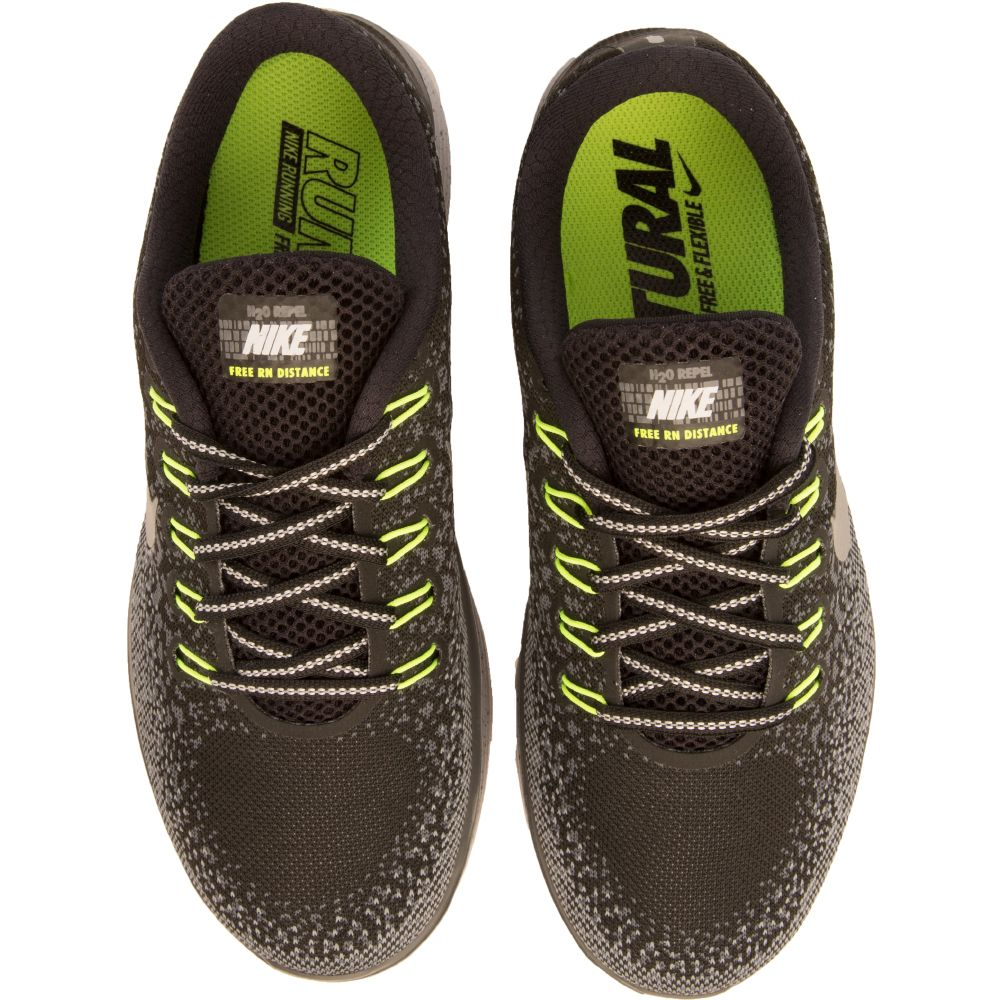71c54e9a1ab11 ... spain womens nike free run distance shield black silver lime green  334f8 3d6c8 ...