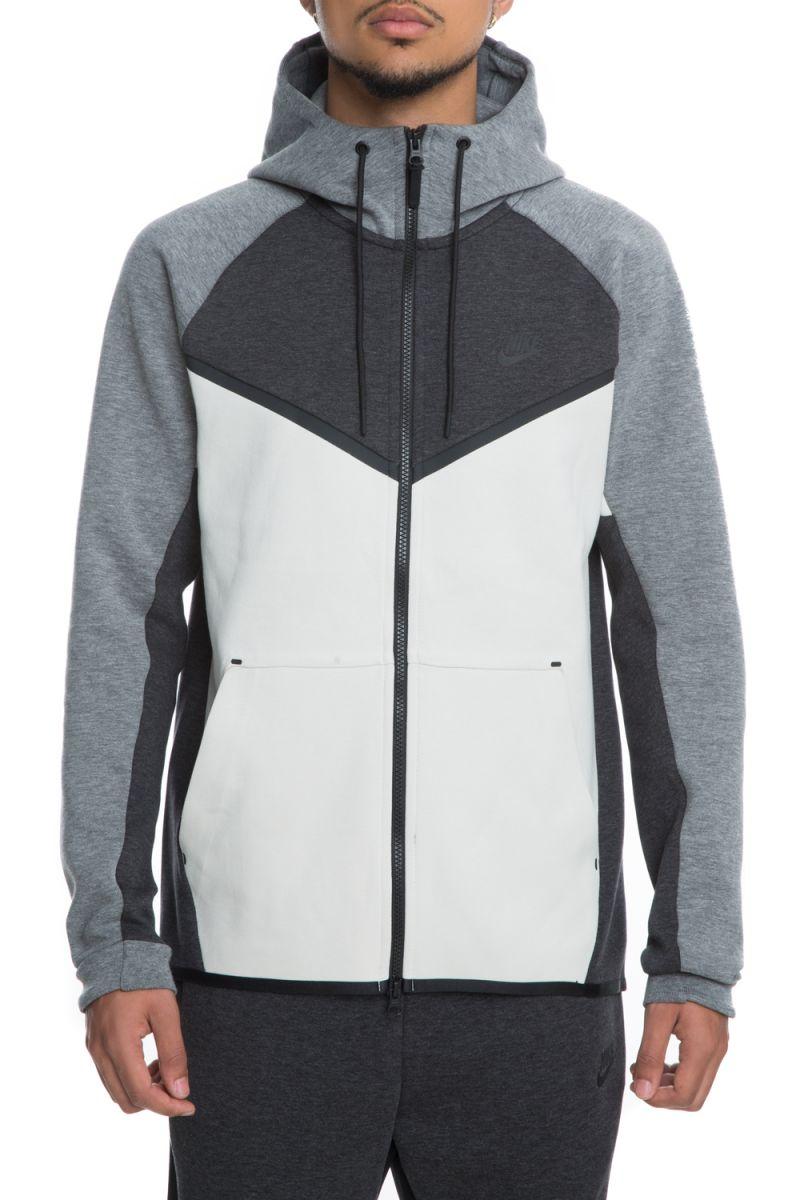 0bb9c3707e77a men's nike tech fleece windrunner hoodie black heather/light bone/black