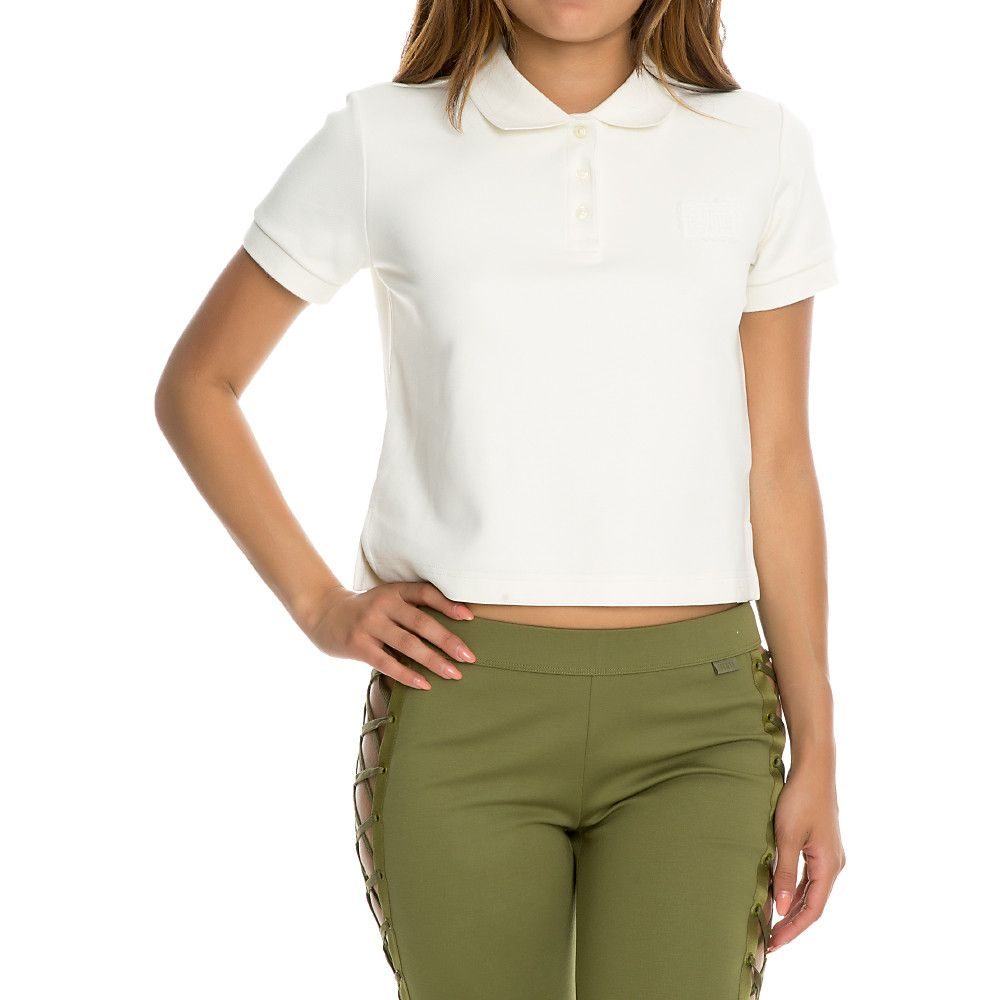 6a058116b1e1dc Women s Baby Polo Cropped Tee