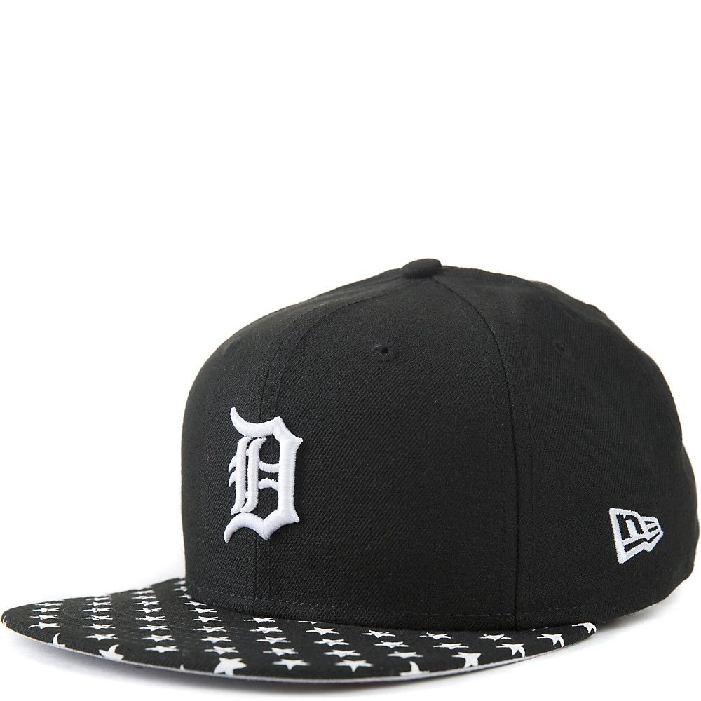 0d7c9a1d Black / White Detroit Lions Snapback Cap