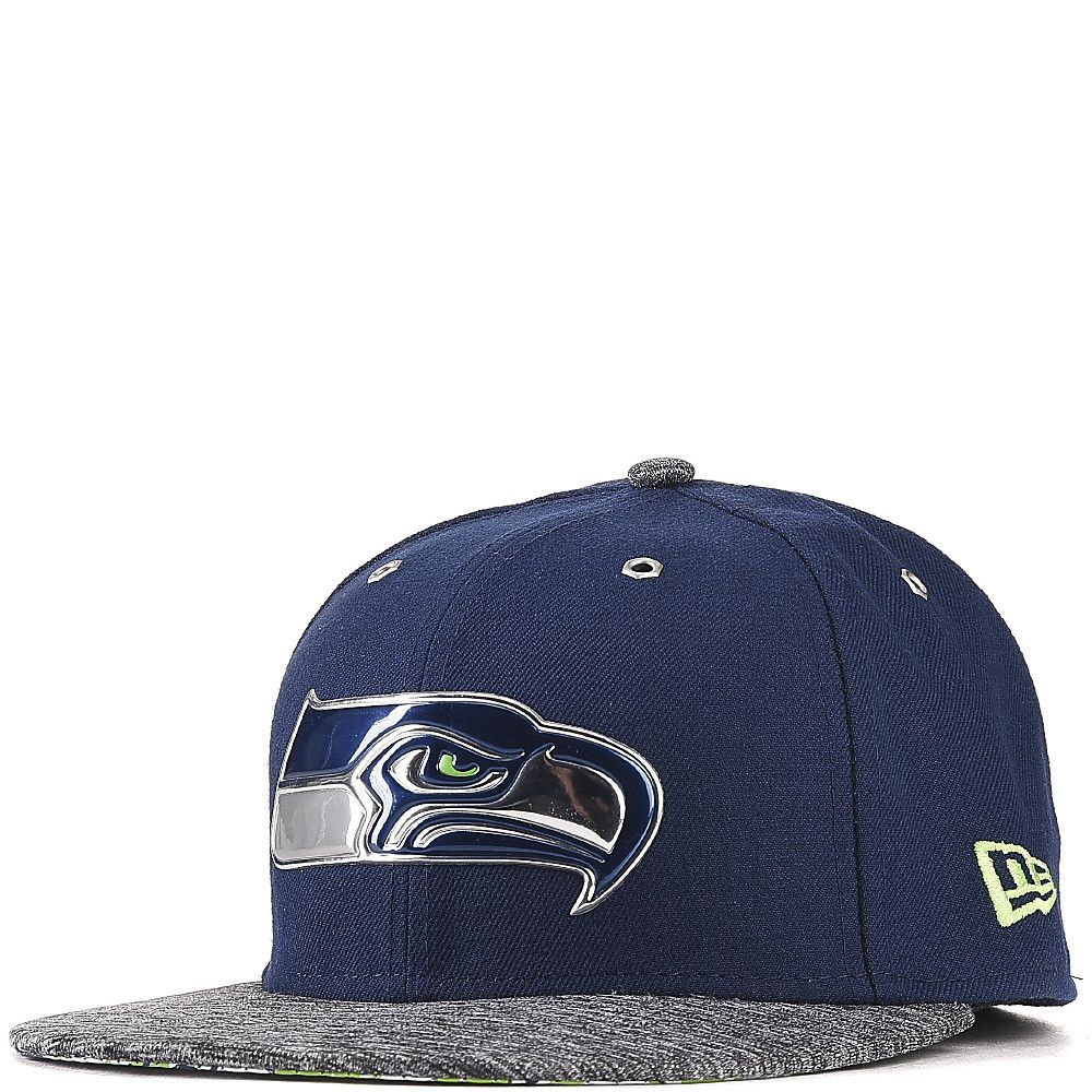 f3bed5ce7 Seattle Seahawks Fitted Hat BLUE/GREY