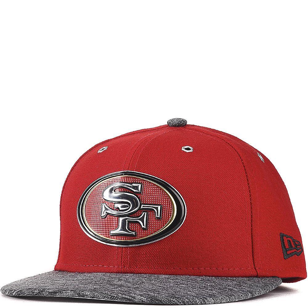 San Francisco 49ers New Era Red   Heathered Gray 2016 NFL Draft On ... 5f8f602f952