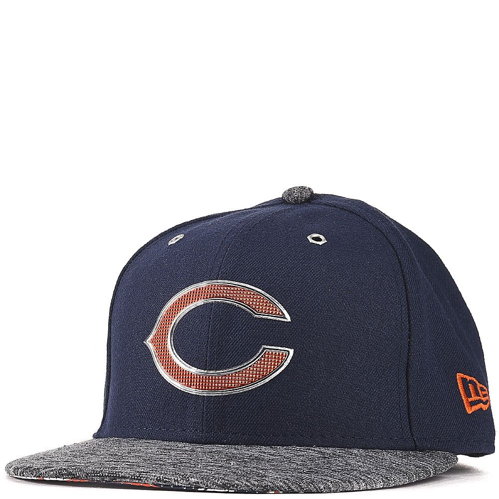 new styles 37b88 49932 Chicago Bears Dark Blue Heathered Gray New Era 2016 NFL Draft On Stage 59FIFTY  Fitted Hat With Liquid Chrome Graphics
