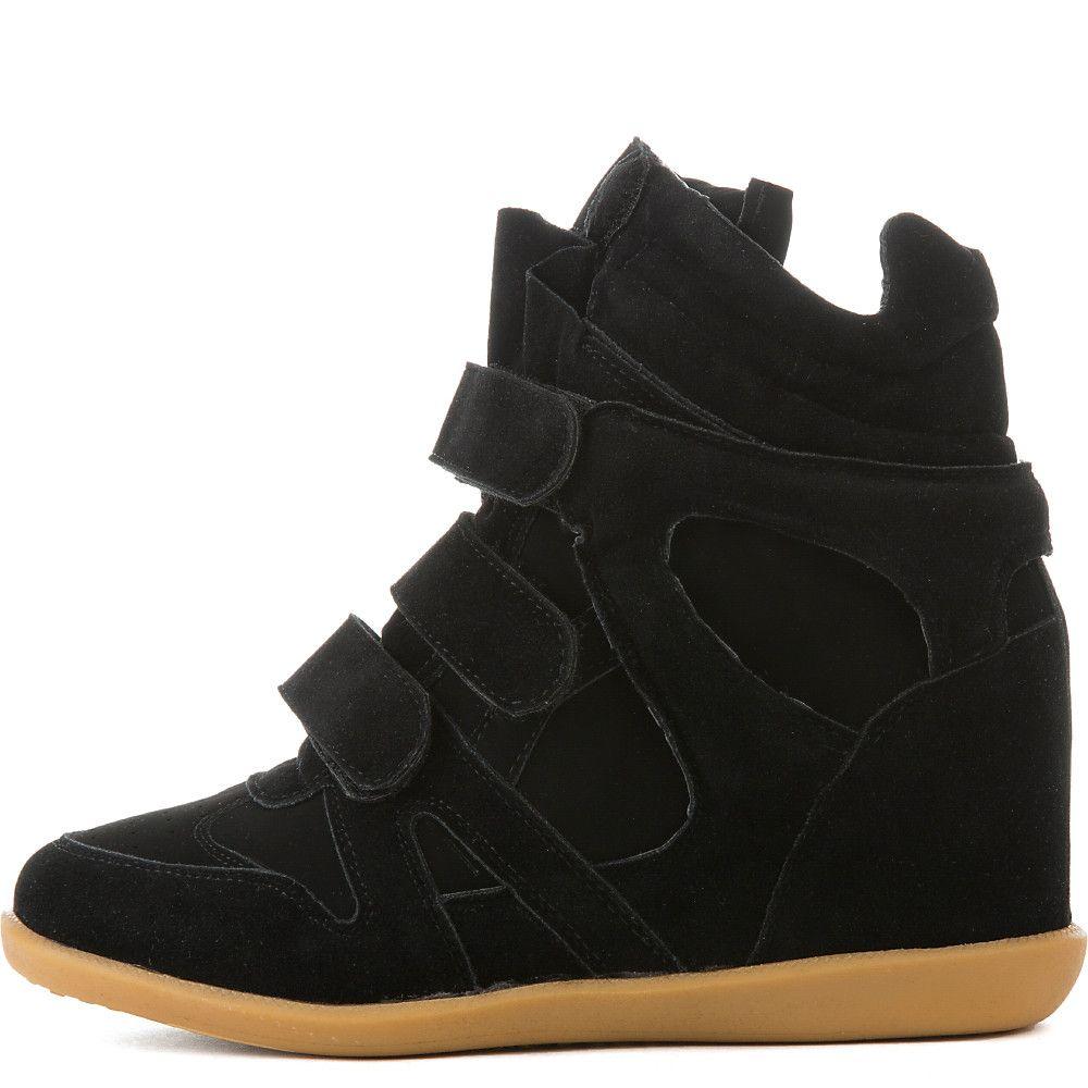 Women s Ella-02 Hidden Wedge Casual Sneaker Black