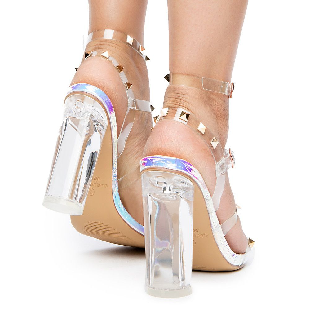 069378ab3a9 Women's Gina-3 Strappy Heels PINK HOLOGRAM