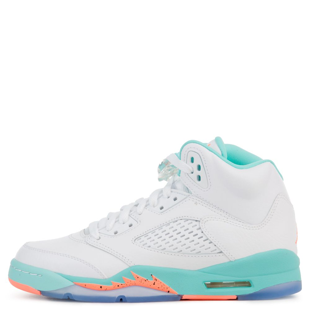5e3df9acd0f air jordan 5 retro gs white/crimson pulse-light aqua-black
