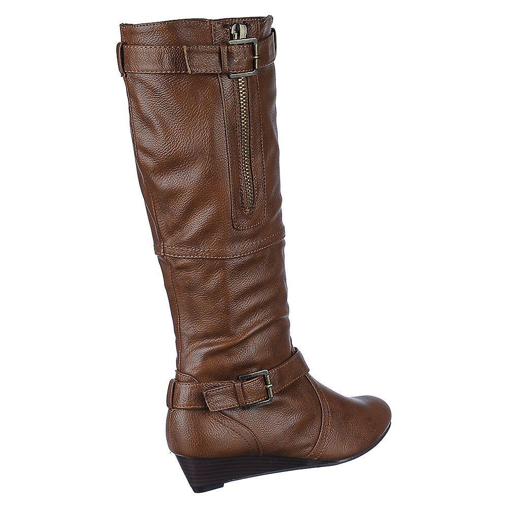 a8ade8a7436 Women's Low Heel Wedge Boot Tamara-62 Chestnut