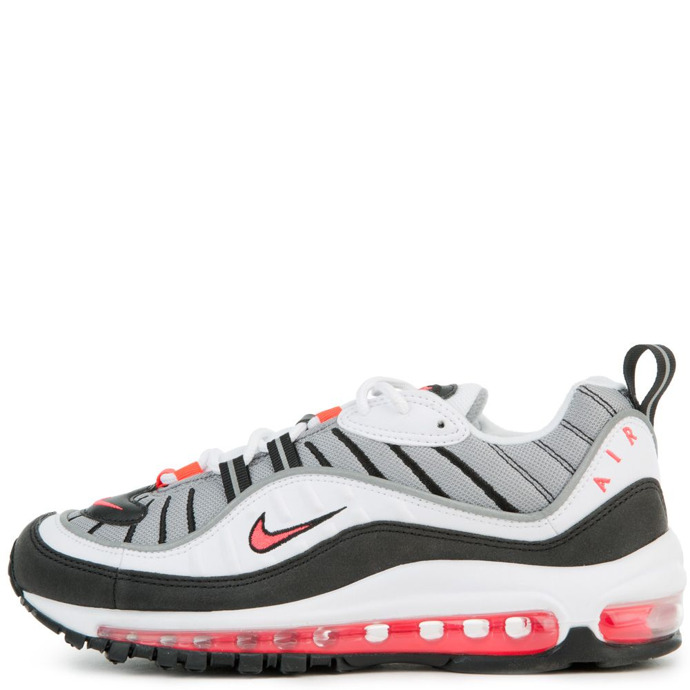 fe070cb386 women's nike air max 98 white/solar red/dust-reflect silver