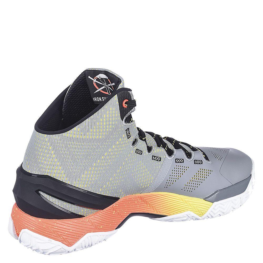 c6415f38e60d Men s Athletic Basketball Sneaker Curry 2 Grey Black Orange