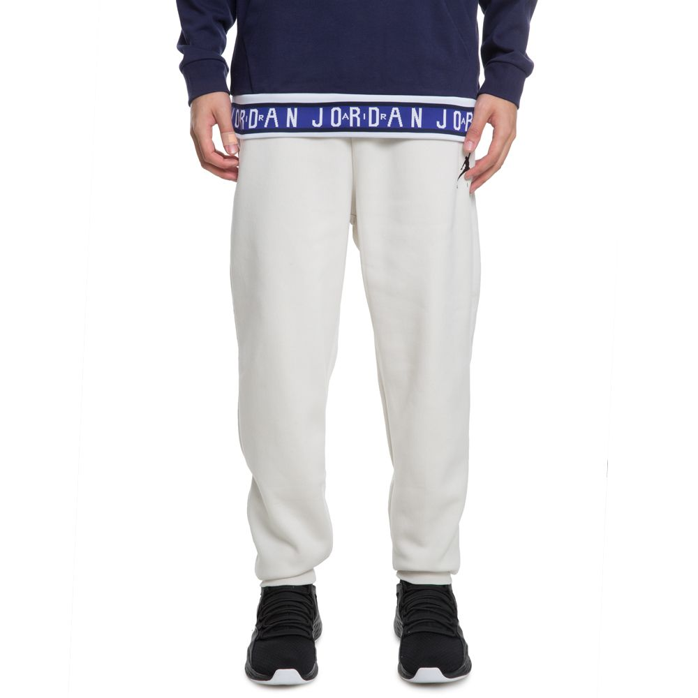 f8f10a86d26 JORDAN JUMPMAN FLEECE PANTS LIGHT BONE/BLACK