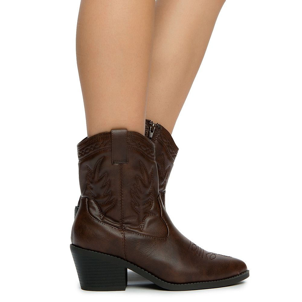 4227be2bd7a Women's Picotee-S Ankle Boots Brown