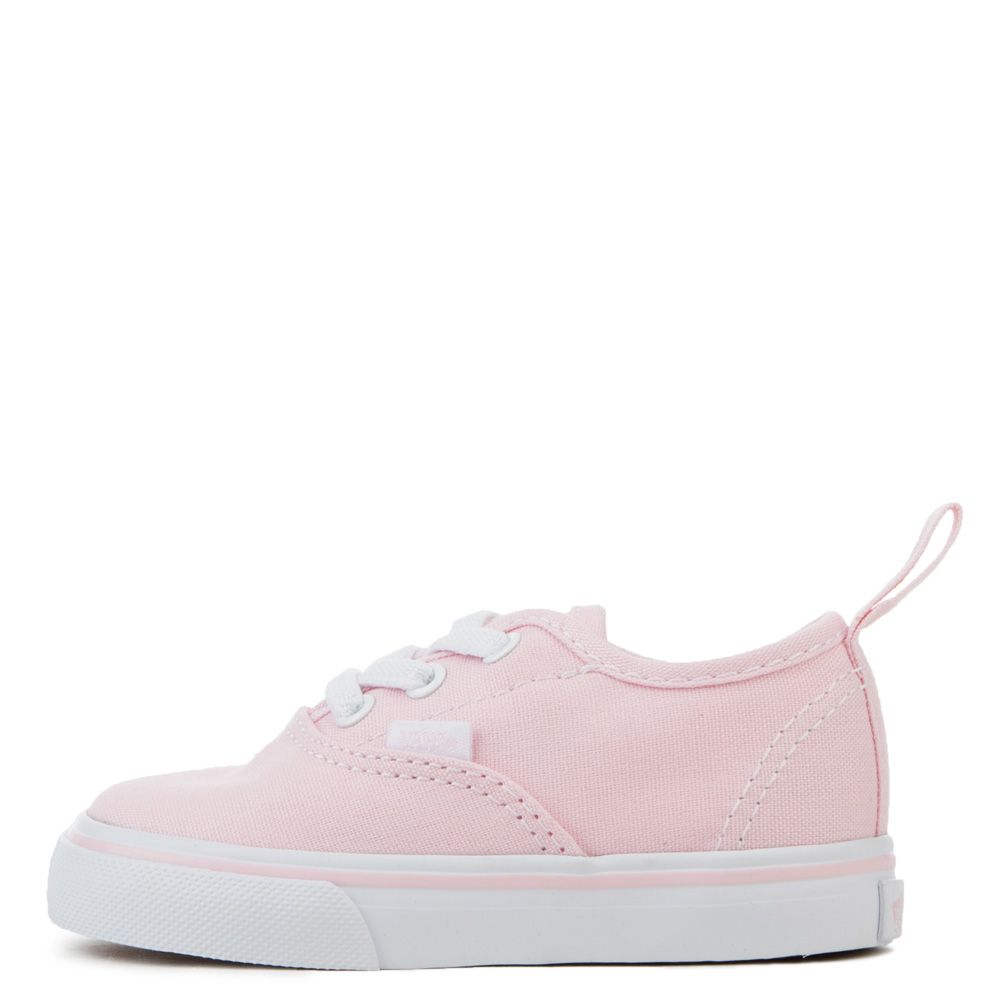 dd6da7e1732 toddler vans authentic elastic lace chalk pink/true white