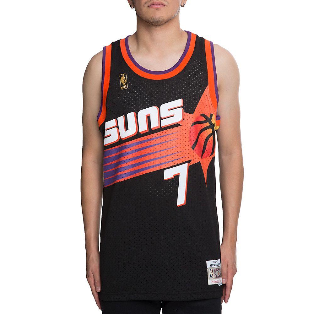 ca4f70e2 Men's Suns Kevin Johnson 7 Jersey BLACK