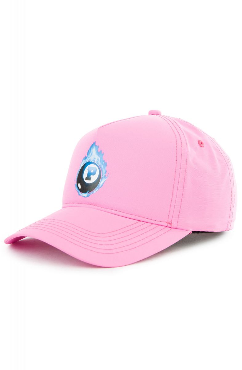 dce987ce20b21 The 8 Ball Flame 5 Panel Hat in Pink