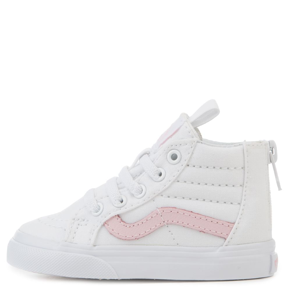 33762629f0 TODDLER VANS SK8-HI ZIP TRUE WHITE CHALK PINK