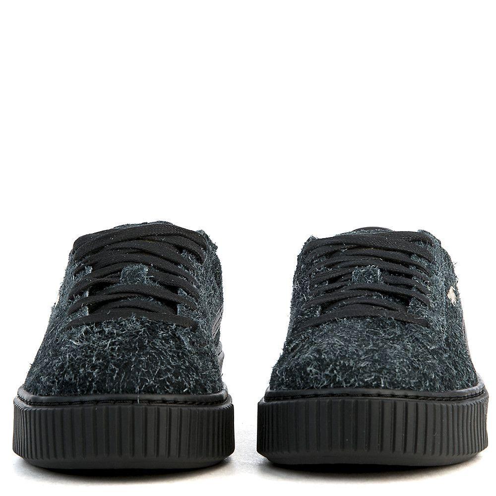 Women s Suede Platform Elemental Casual Sneaker Black e1d62c74a